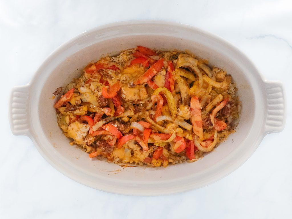 one pan fajita rice casserole