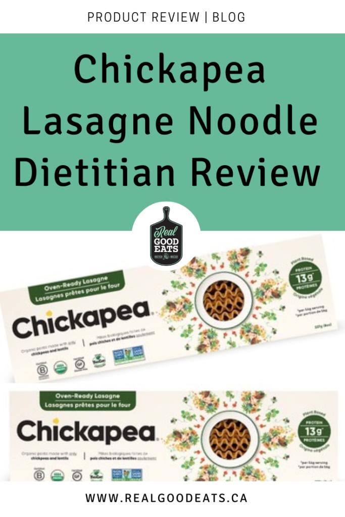 Chickapea Lasagne Noodle Dietitian Review