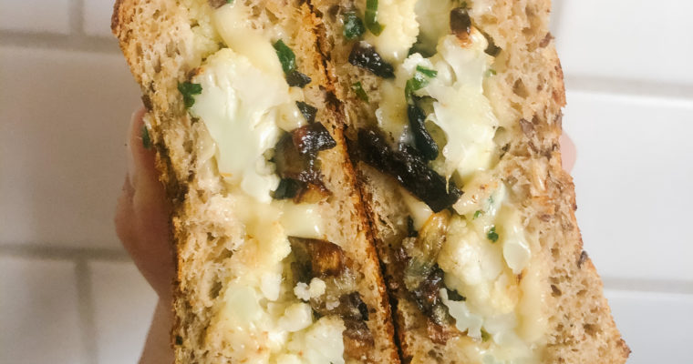 Roasted Cauliflower Grilled Cheese