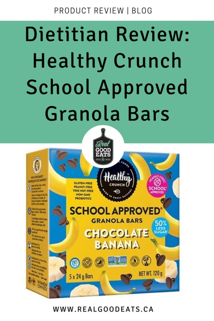 dietitian review - healthy crunch school approved granola bars