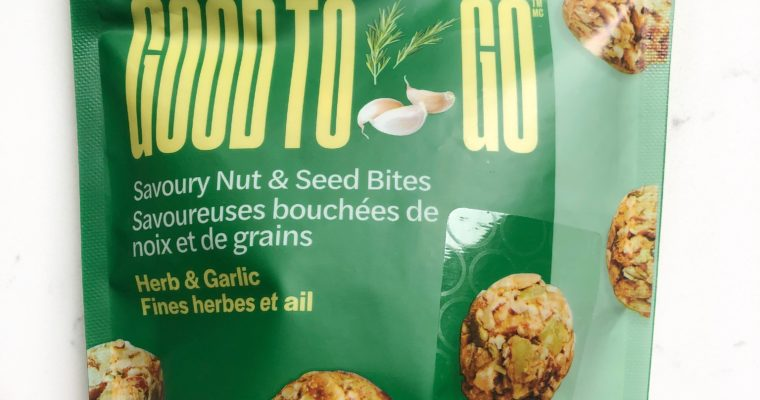 Good To Go Savoury Nut & Seed Bites – Dietitian Review