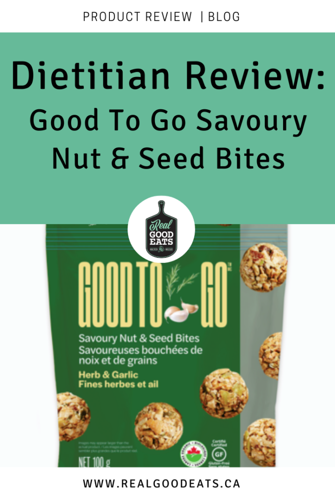 Good to go savoury nut and seed bites